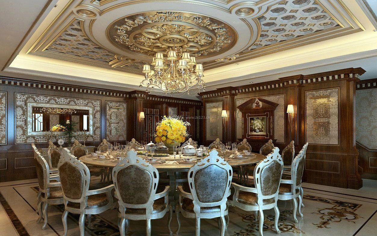 工装效果图 欧式 大型欧式会所豪华餐厅装修效果图图集 提供者:   ←