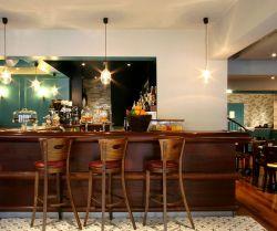 地中海風格餐廳吊頂實景裝飾設計圖