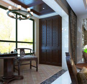 中式风格客厅连接阳台装修图片-每日推荐
