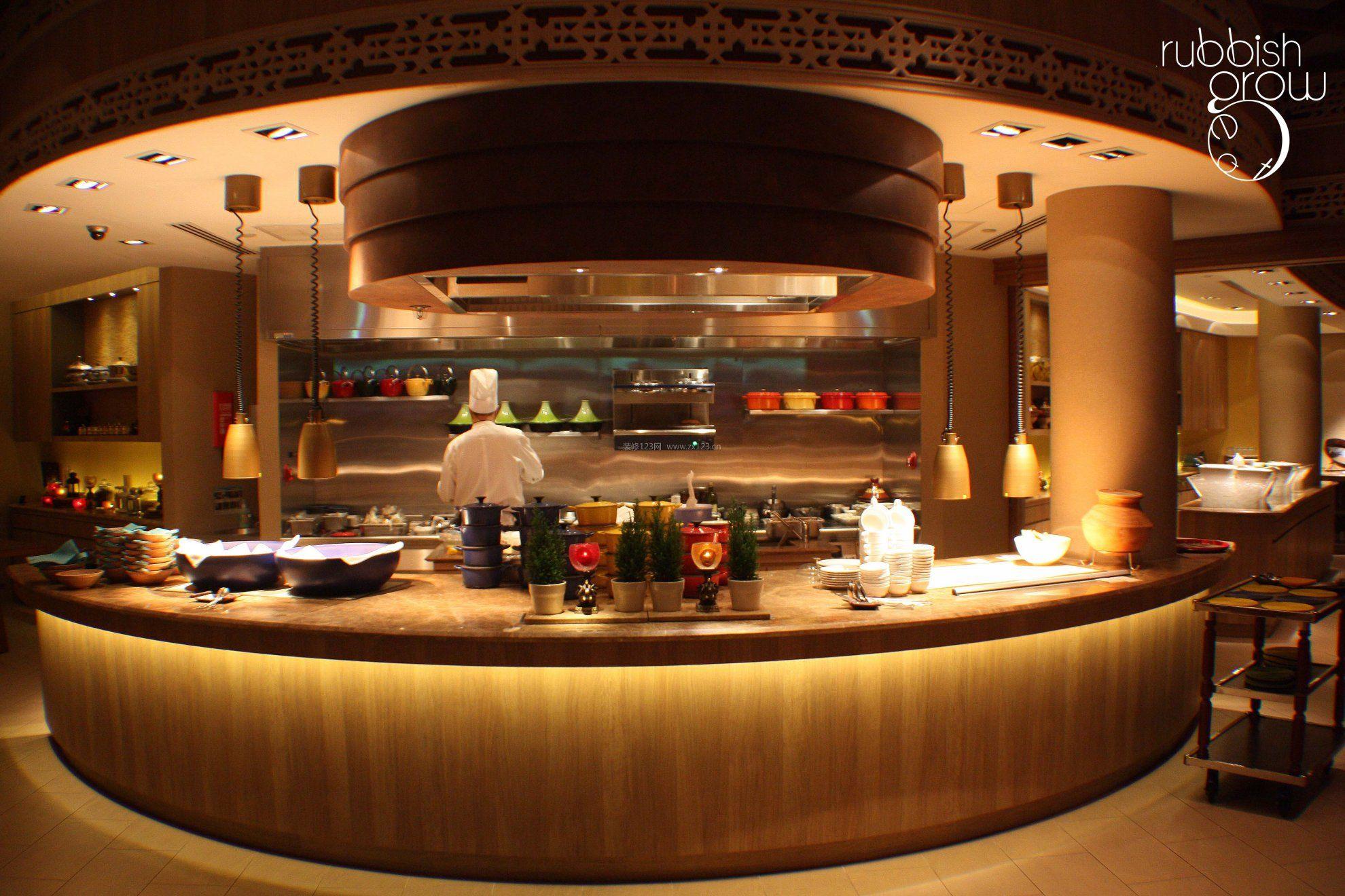 西餐厅学院厨房装修设计效果图餐馆动漫v学院北京图片