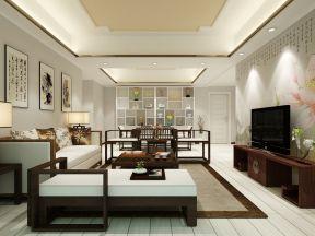 中式家居客廳 客廳餐廳吊頂效果圖