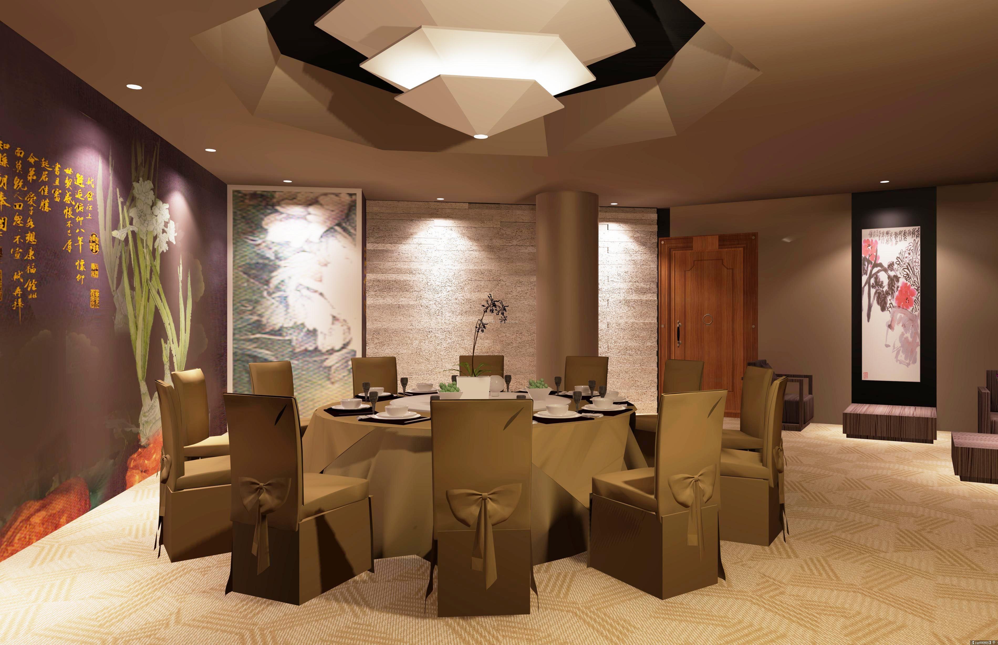 饭店包厢古典室内装修设计效果图片