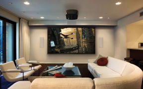 現代客廳效果圖 簡約電視背景墻