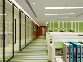 辦公室裝修大型辦公室玻璃隔斷效果圖 現代辦公室隔斷墻