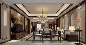 現代新中式 背景墻 新中式客廳裝修效果圖片