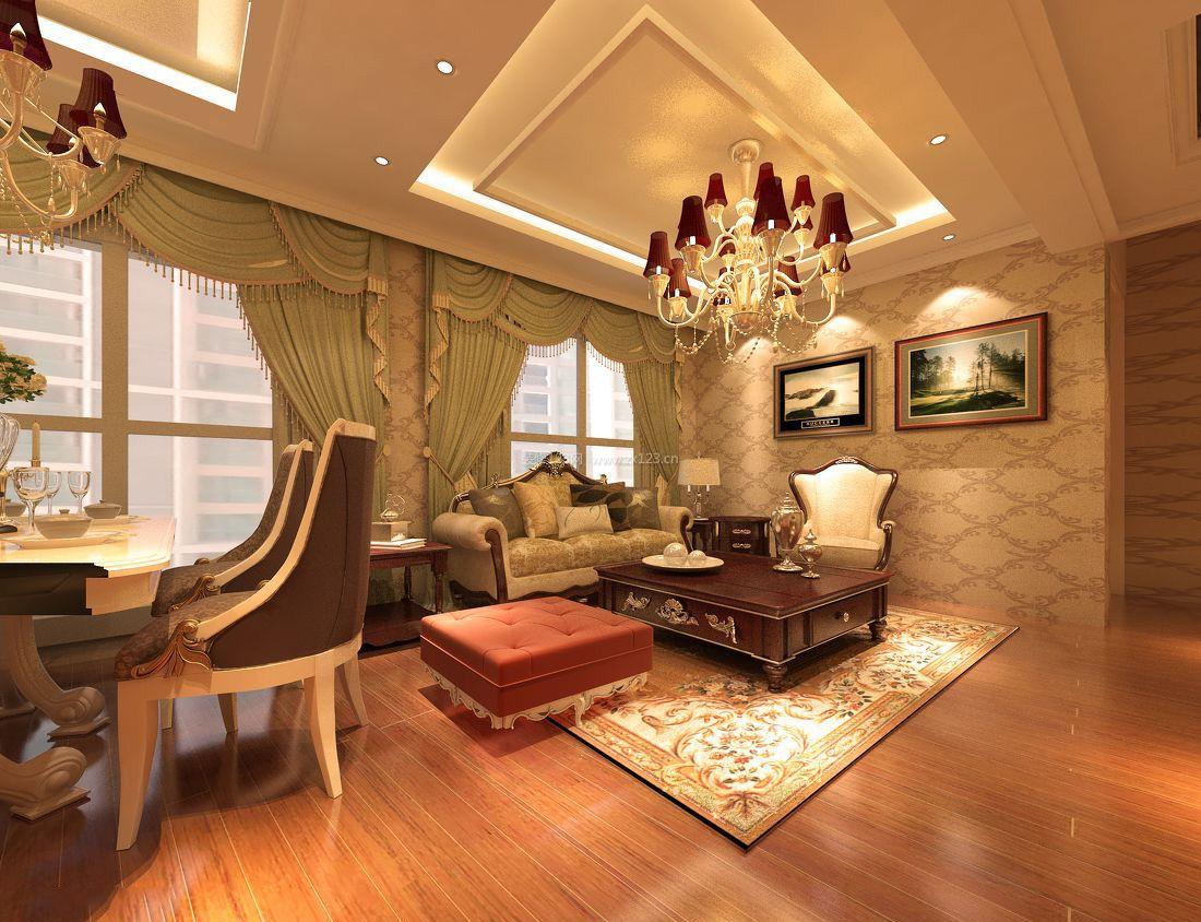 欧式家装客厅吊顶装修效果图大全图片