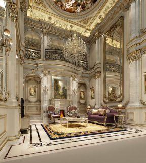 2017法式风格别墅客厅装修图