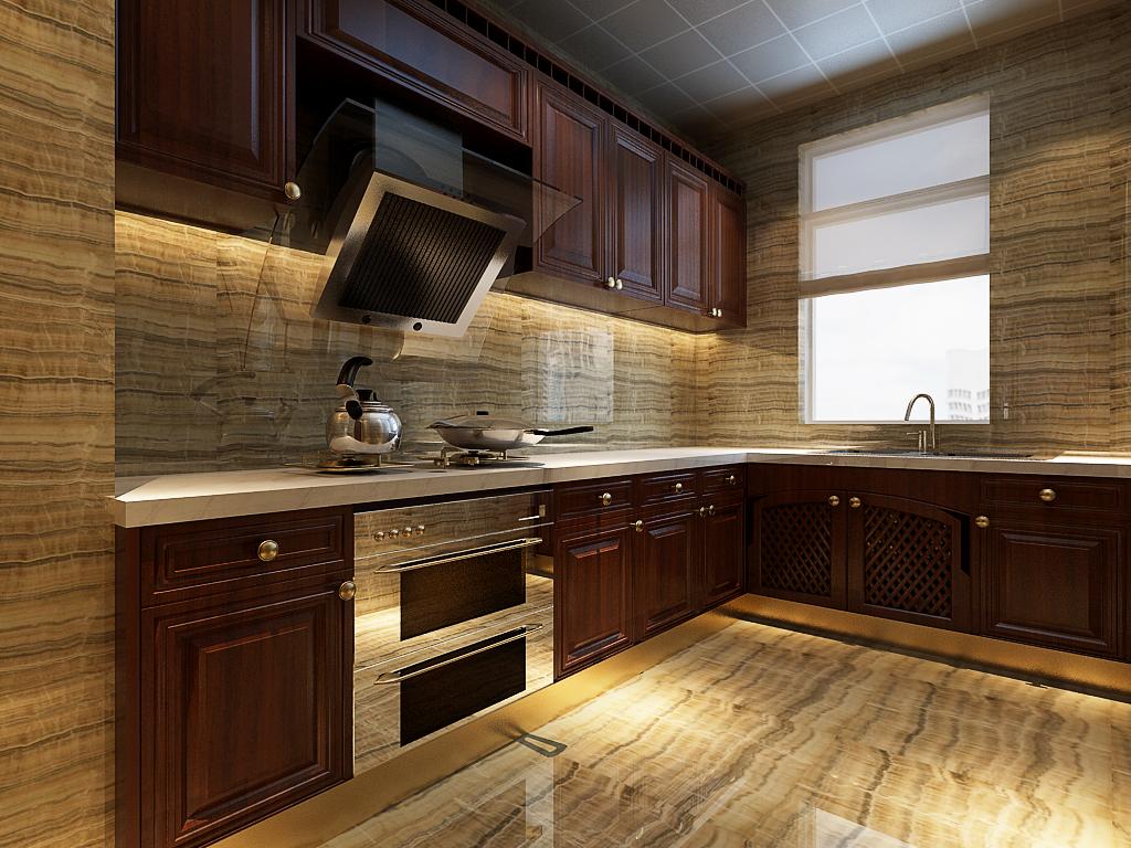 中式厨房装修效果图图片