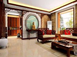 新中式风格客厅书房隔断装修效果图大全