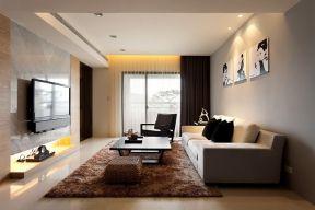 現代簡約小戶型客廳 客廳沙發背景墻裝飾畫