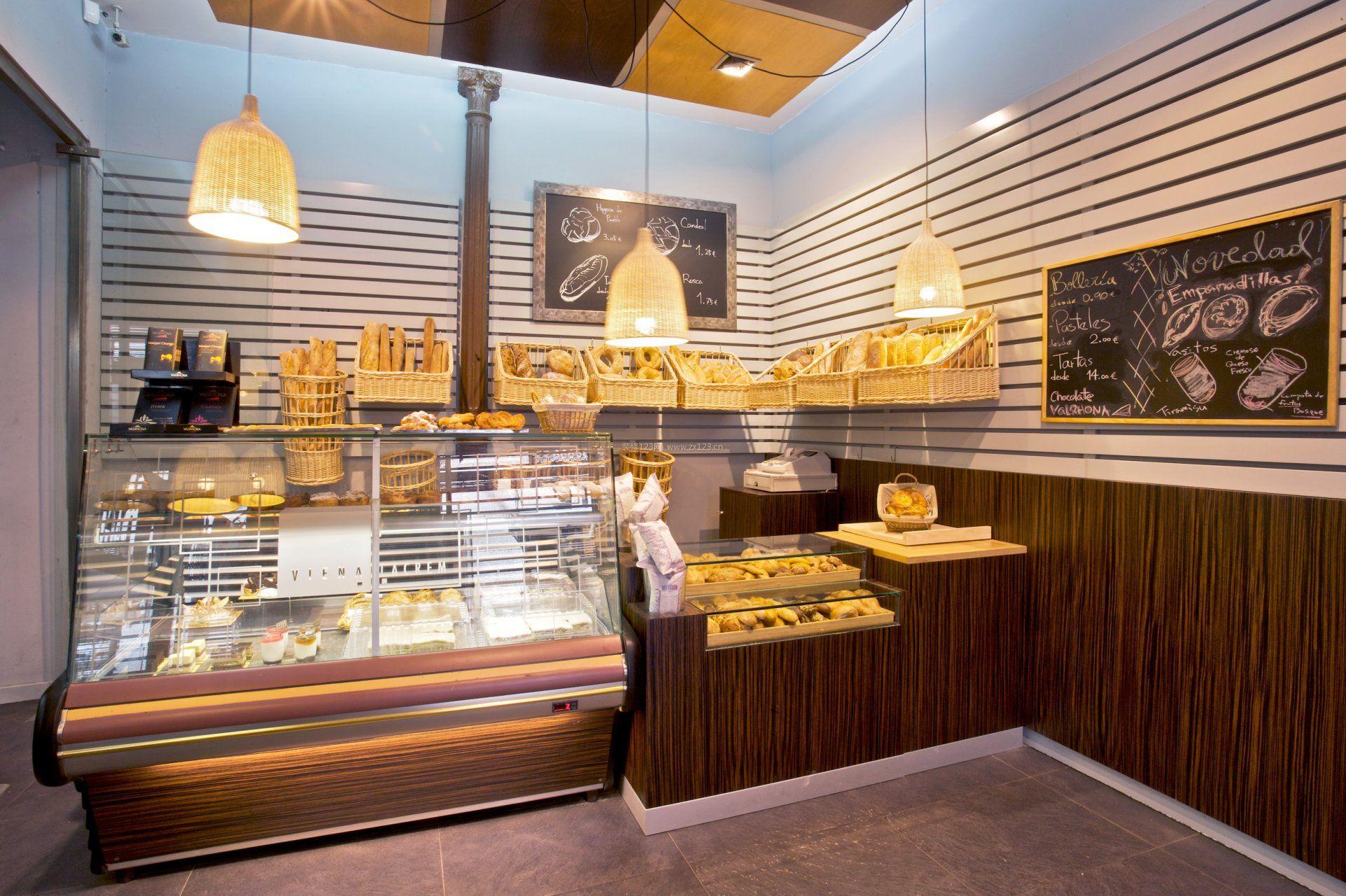 蛋糕店室内背景墙设计效果图