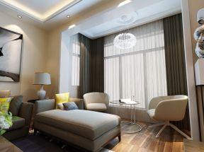 歐式窗簾圖片 客廳飄窗設計