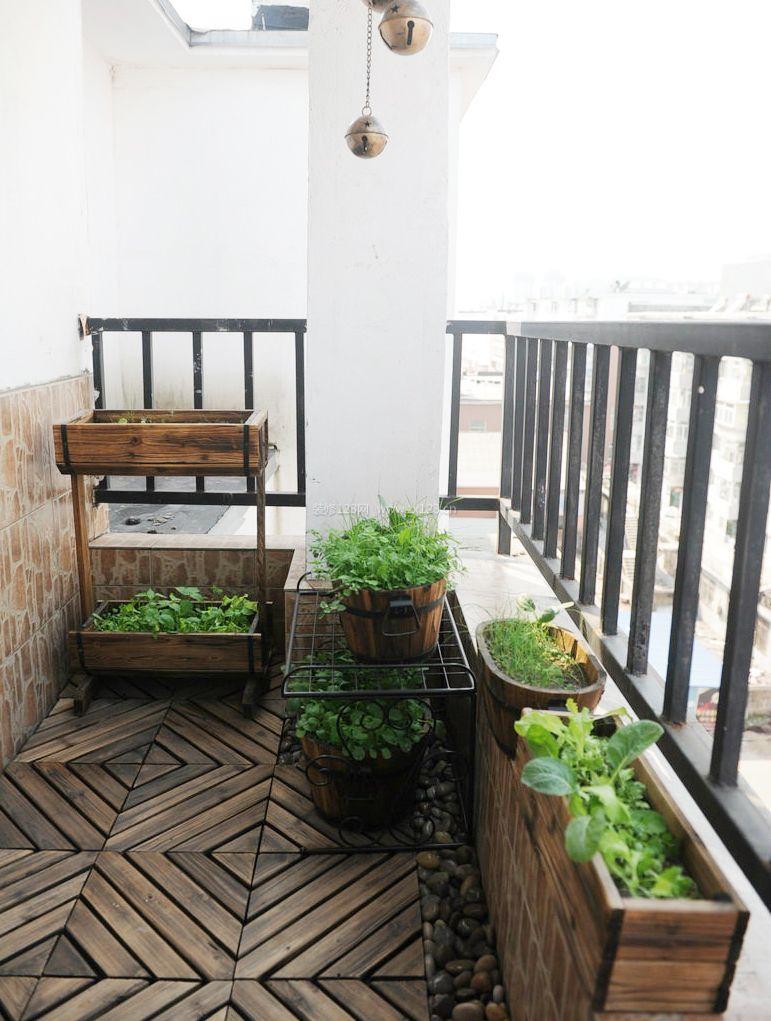小户型装修阳台绿化效果图片