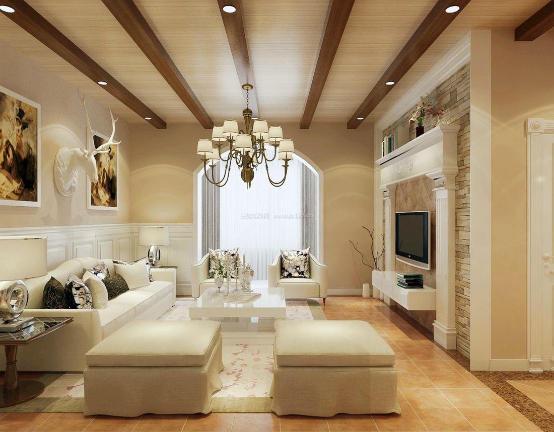 美式风格创意改造20平米小户型客厅装修效果图图片