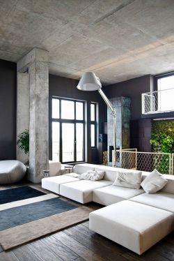 现代风格水泥板墙面么装修效果图片