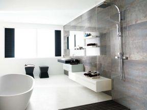 简约卫浴展厅效果图片 现代简约黑白风格