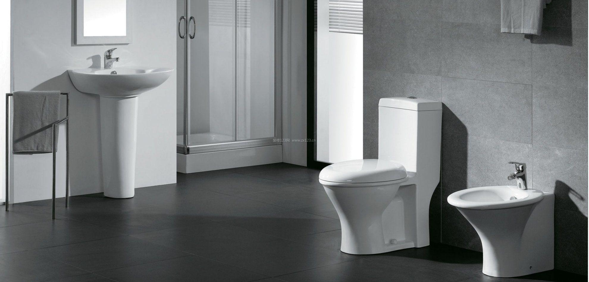 现代卫浴店面展厅黑白风格装修效果图片