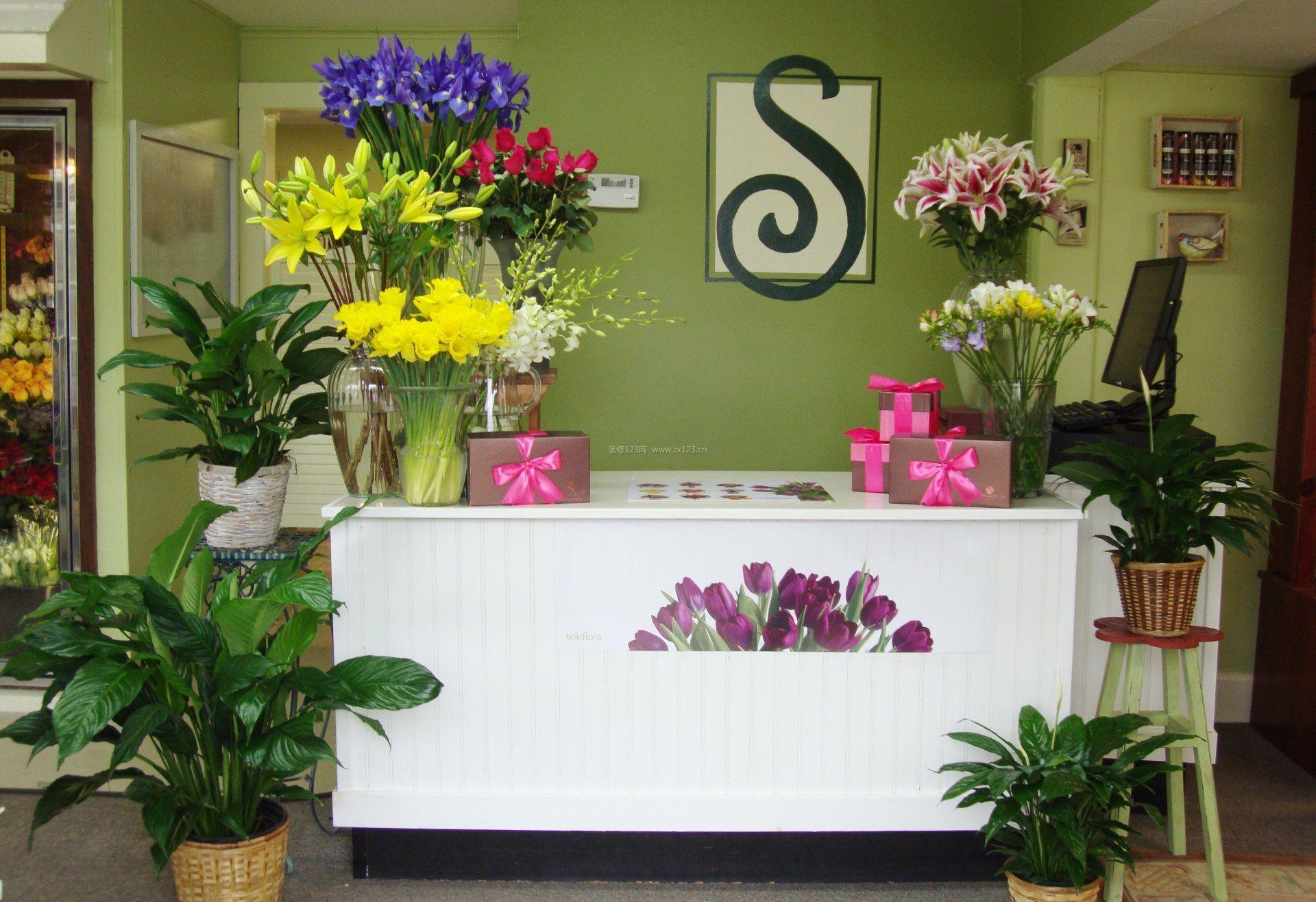高端花店接待台设计装修效果图片图片