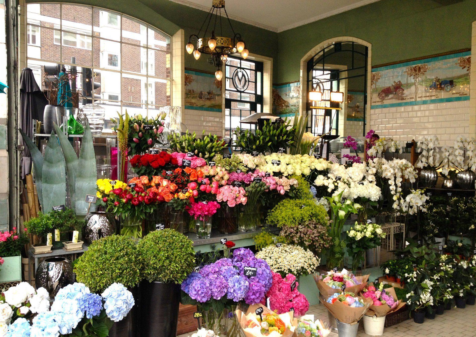 高端花店室内花架设计效果图片