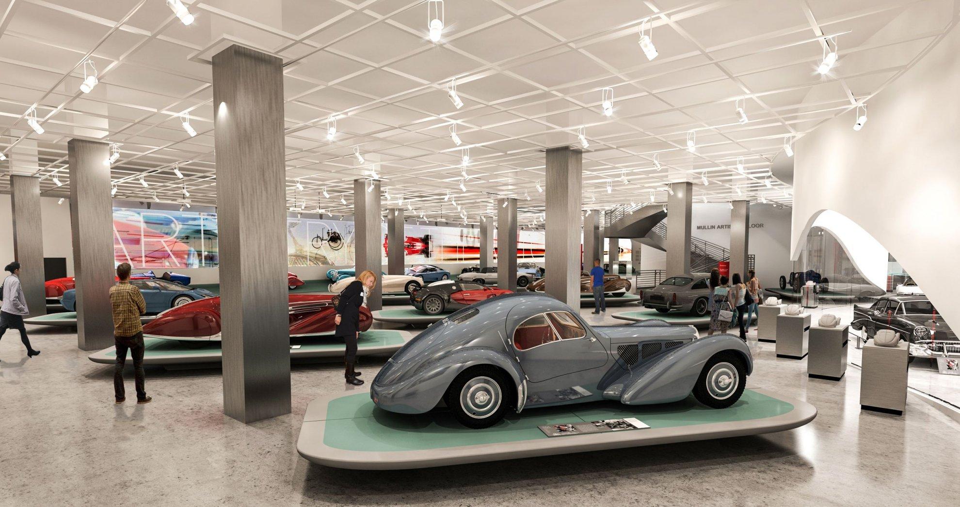 汽车4s店铺布置展厅天花吊顶效果图