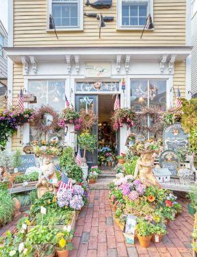 高档花店门口装饰设计效果图图片