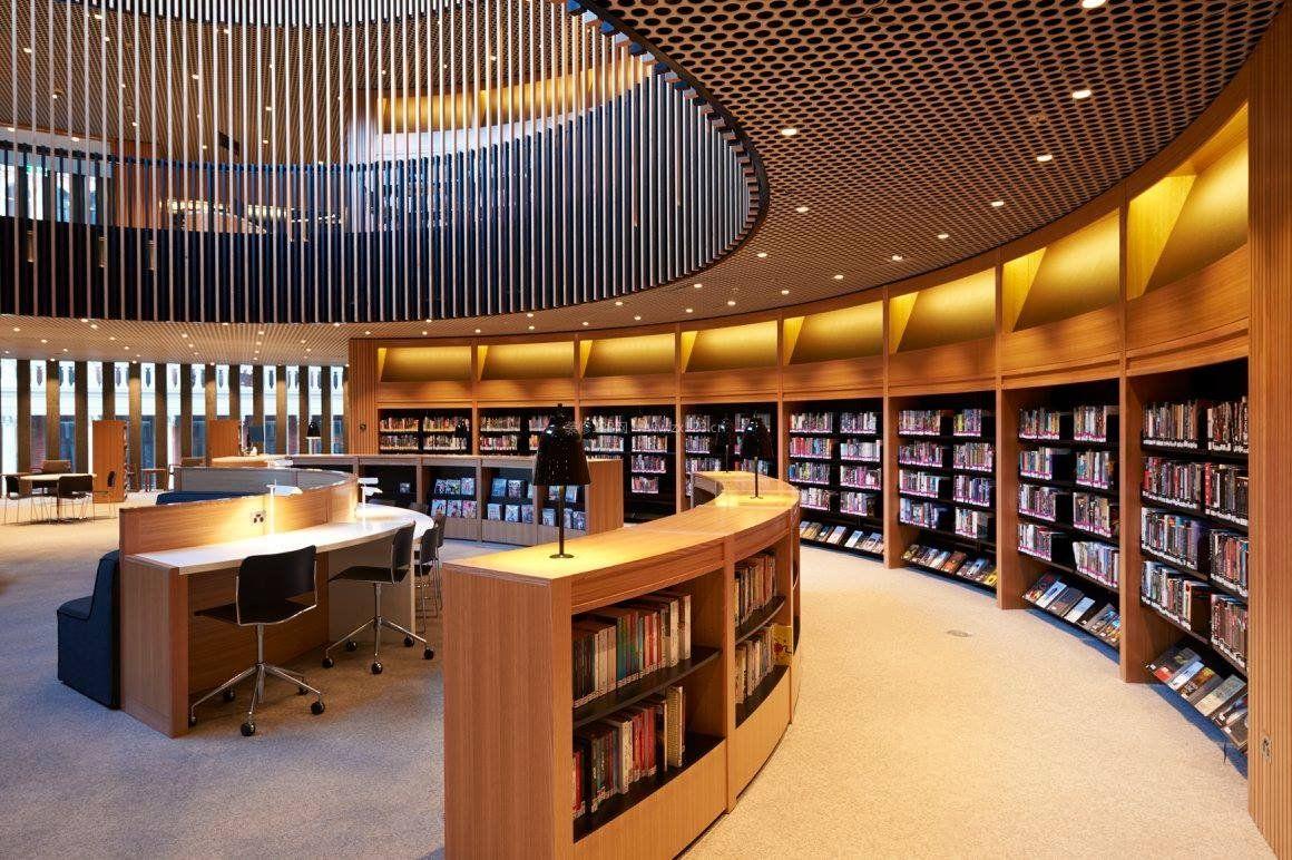 现代图书馆室内设计装修案例