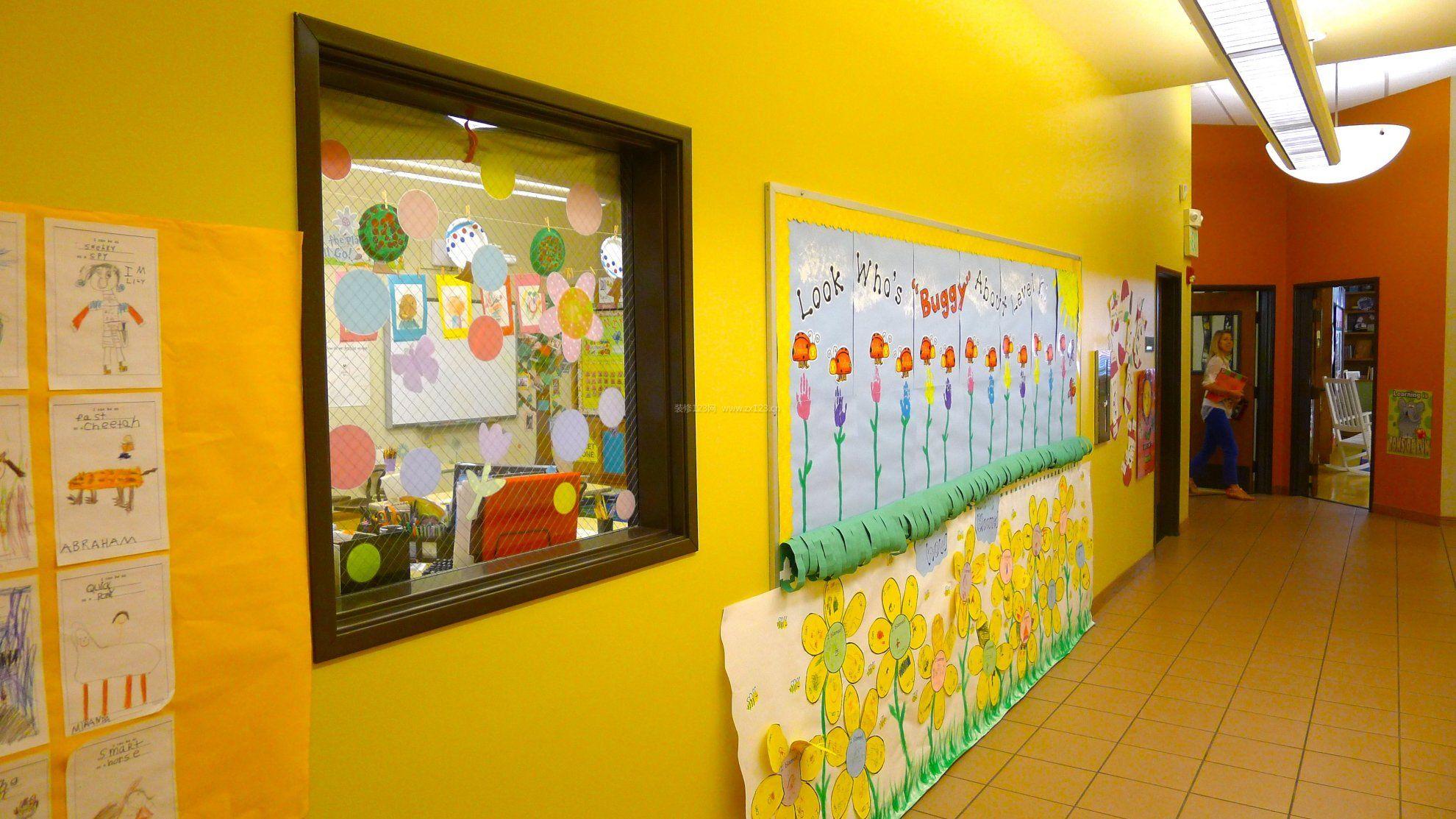 幼儿园黄色墙面装修效果图片