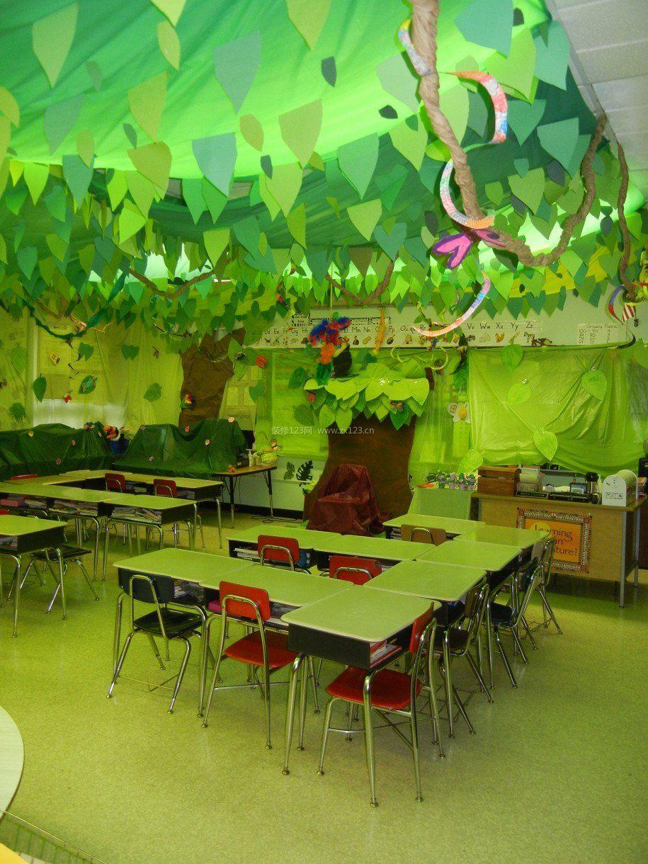 幼儿园小班环境布置墙面装饰图片
