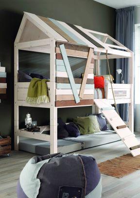 長臥室 高低床裝修效果圖片