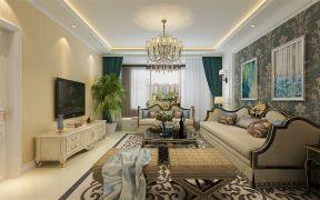 布艺沙发套 沙发背景墙ballbet贝博网站效果图片