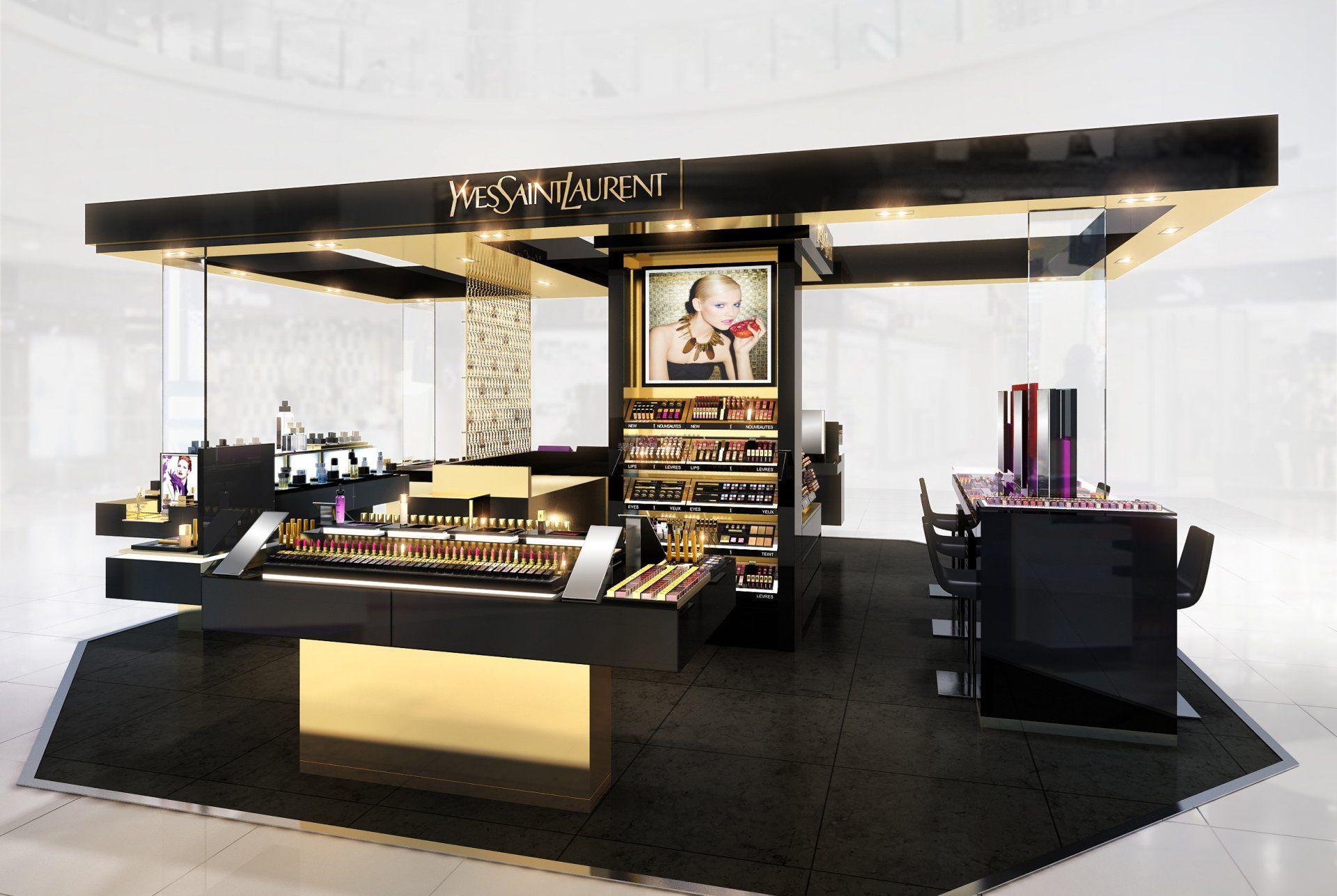 化妝品店面裝修設計圖片
