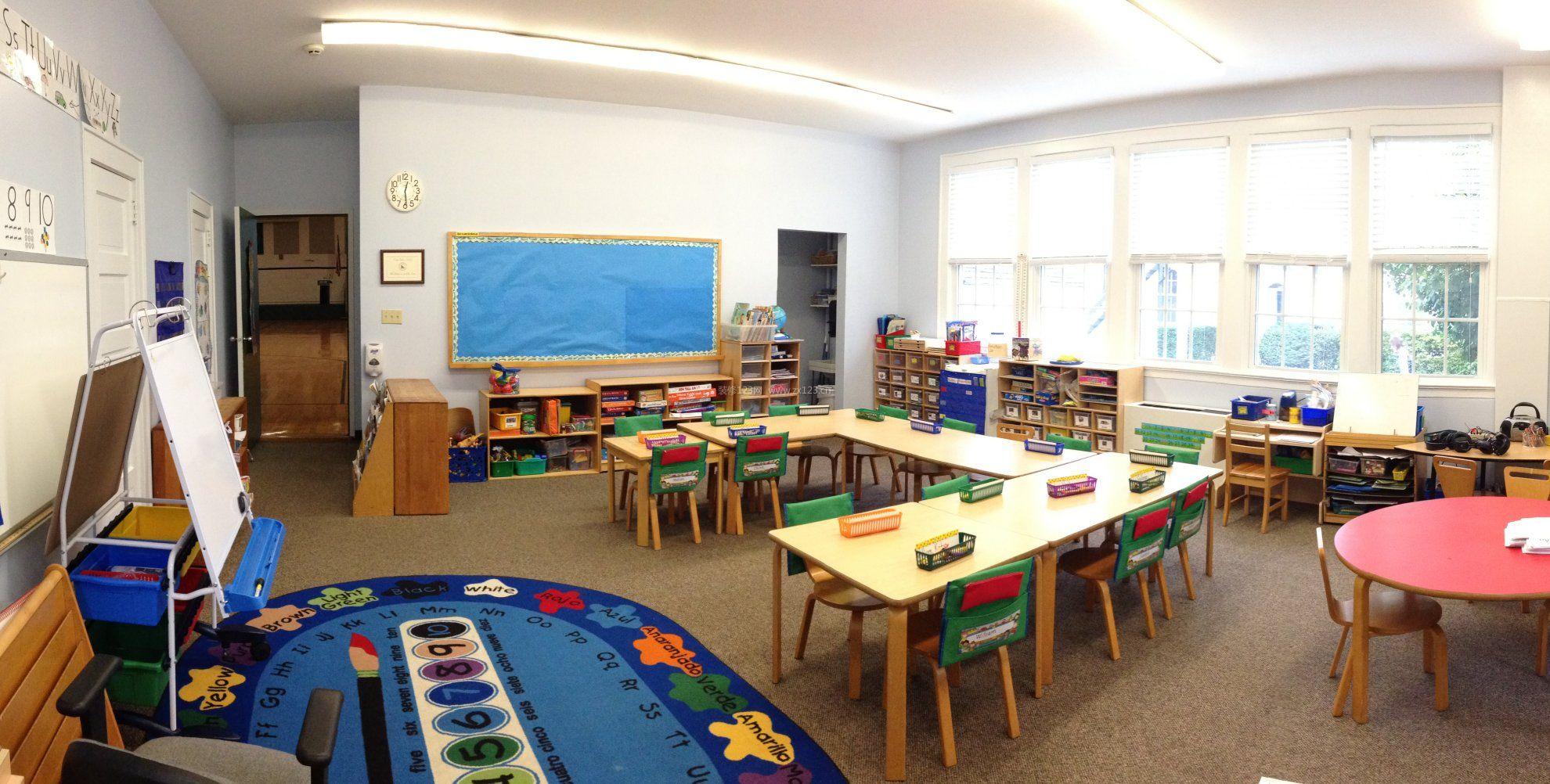 幼儿园小班教室环境布置_装修123效果图