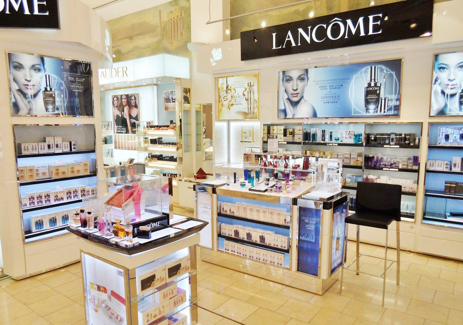 商场化妆品店面设计效果图片