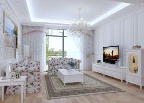 歐式田園風格 客廳地毯圖片