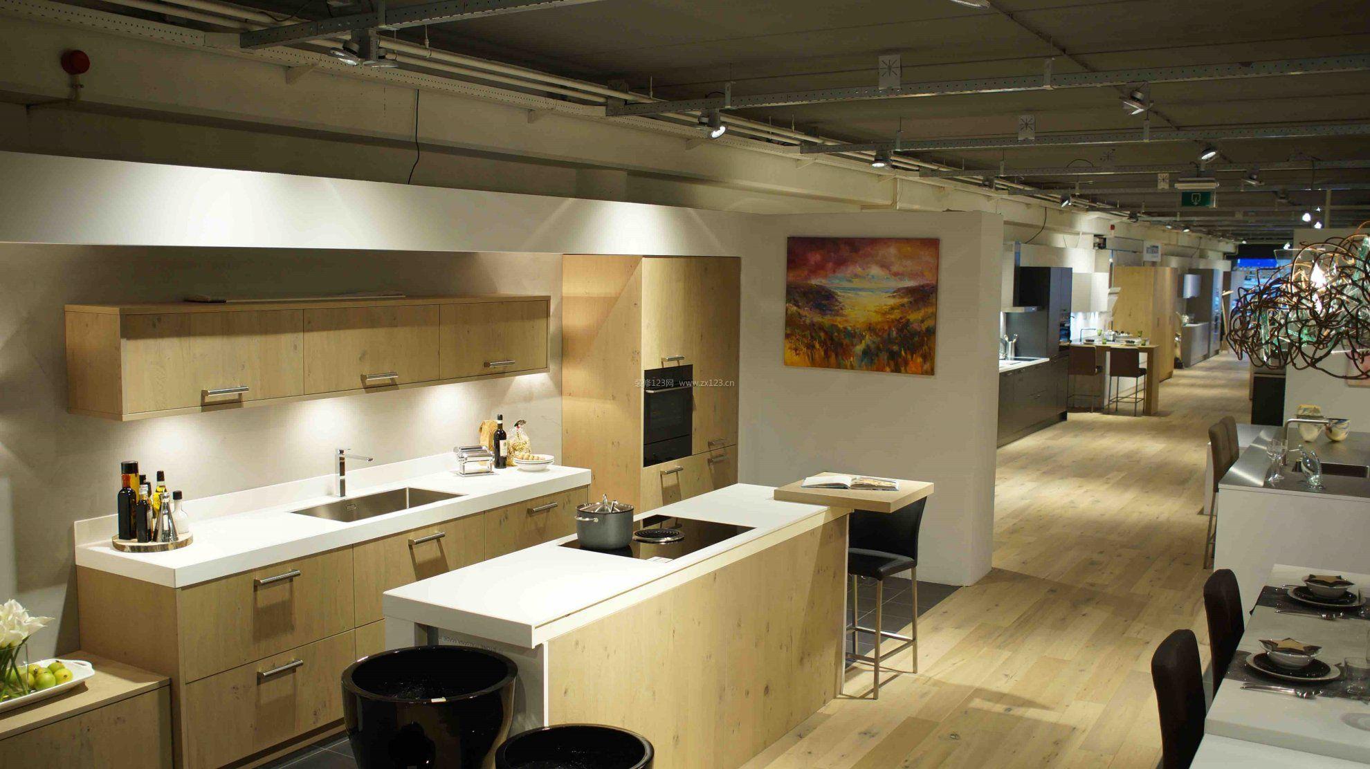 现代简约设计志邦橱柜展厅效果图图片