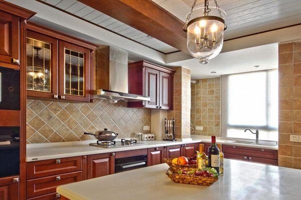 美式厨房装修设计 舒适大方味又有品位