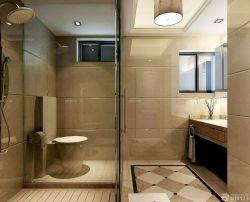 現代家裝風格衛生間玻璃隔斷裝修效果圖片大全