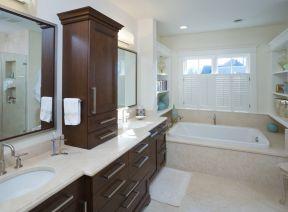 简约风格卫生间整体浴室柜装修效果图