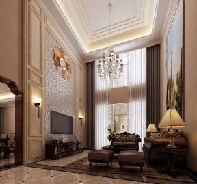 純美地中海 挑高客廳裝修效果圖