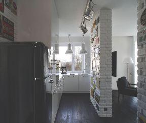 現代美式風格 小廚房設計圖