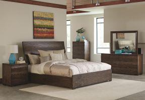 家装卧室设计图 实木床图片图片
