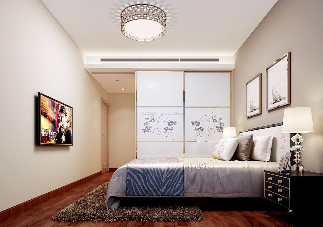 房屋卧室筒灯装修效果图片