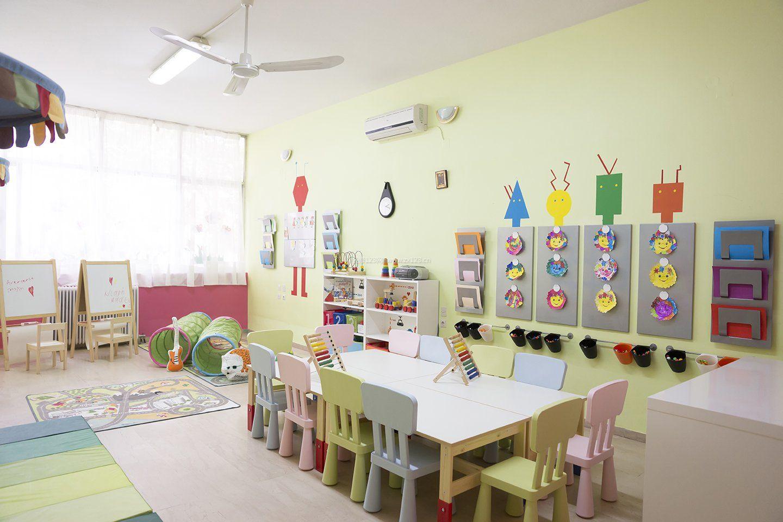 现代高档幼儿园室内装修设计图欣赏_装修123效果图