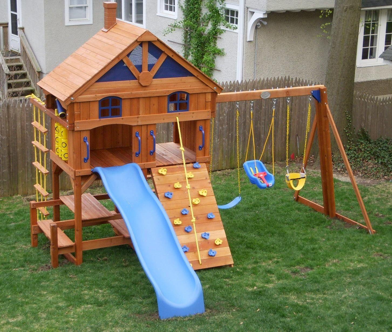 室外幼儿园滑梯装饰设计图片大全