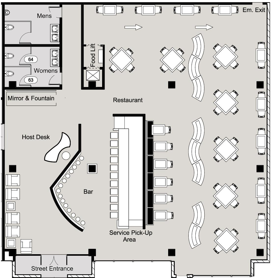 最新酒吧设计平面图大全