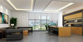 老板辦公室裝修風格 辦公桌椅裝修效果圖片