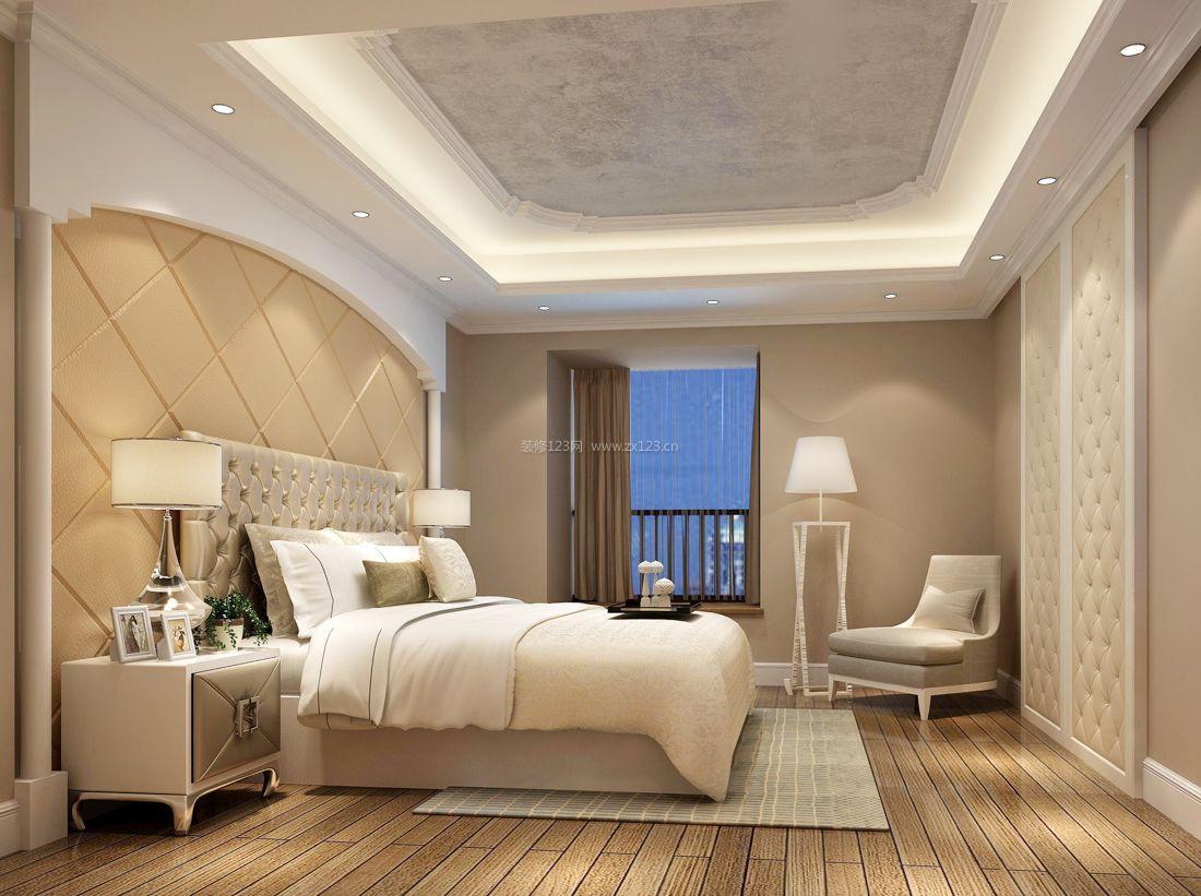 欧式大主卧室石膏板吊顶装修效果图片