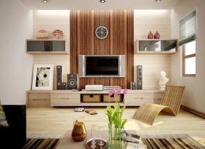 小戶型客廳簡約 客廳電視背景墻設計圖