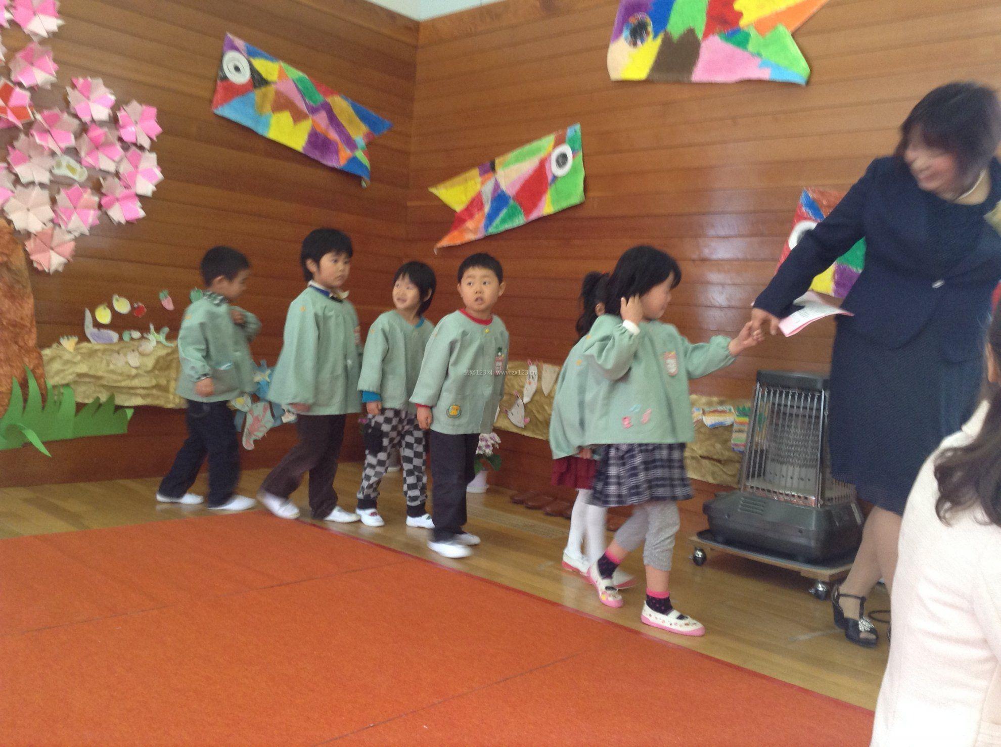 日式幼儿园室内装饰装修设计效果图
