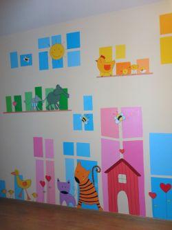幼儿园墙裙墙面设计装修效果图